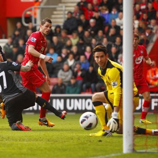Morgan Schneiderlin, centre, Rickie Lambert and Jay Rodriguez were on target as Southampton beat Liverpool