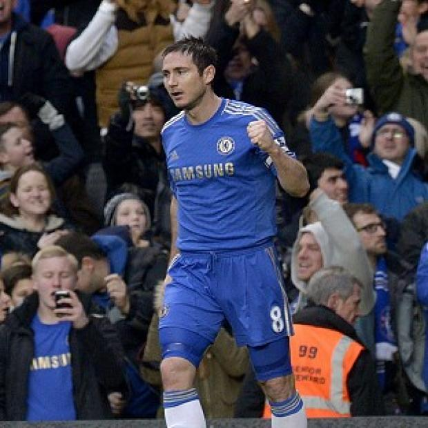 Frank Lampard netted his 200th Chelsea goal against West Ham