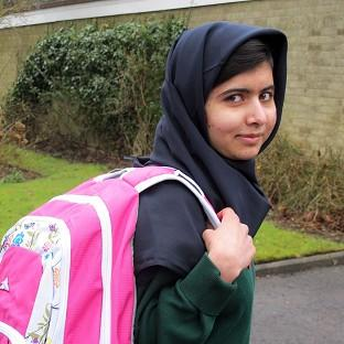 Malala Yousafzai attends her first day of school just weeks after being released from hospital (Malala Press Office/PA)