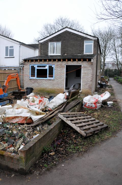 The house in Normanton Road which must now be cleared of rubbish under a borough council order