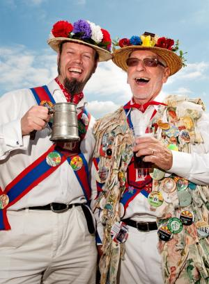 King's Somborne Beer & Music Festival - Morris Men, Ian Nicholls and Bernard Brombley. Picture by Andy Brooks