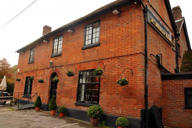 The Purefoy Arms in Preston Candover, where the scuffle took place