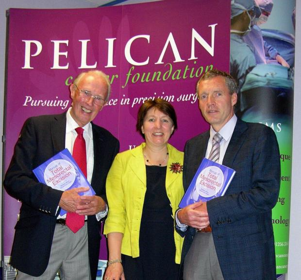Andover Advertiser: Professor Bill Heald, Pelican CEO Sarah Crane and Mr Brendan Moran