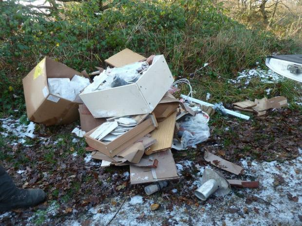Andover Advertiser: Waste illegally dumped at Gravel Hill car park