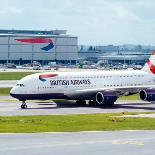 British Airways is to take delivery of its first Airbus A380 superjumbo