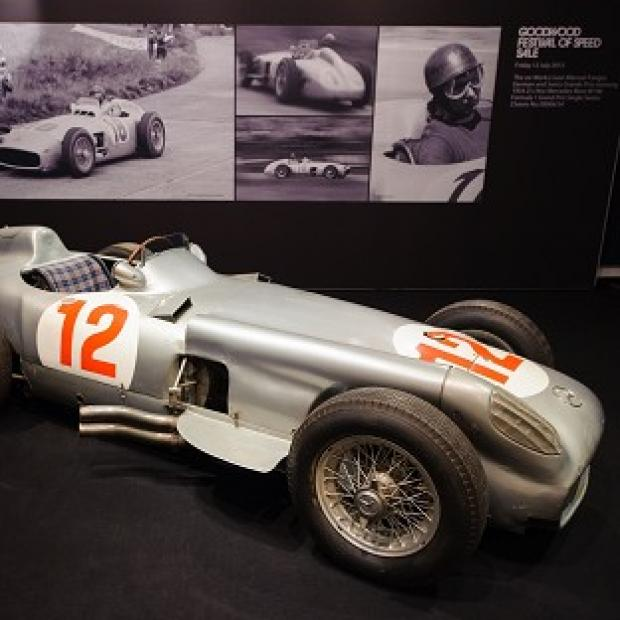 Andover Advertiser: The 1954 Mercedes-Benz W196 Formula 1 Grand-Prix single-seater driven by Juan Manuel Fangio
