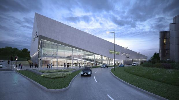 A computer-generated image of the proposed new superstore