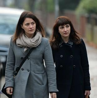 Sisters Elisabetta, left, and Francesca Grillo, former personal assistants to Charles Saatchi and Nigella Lawson, deny committing fraud by abusing their positions for personal gain