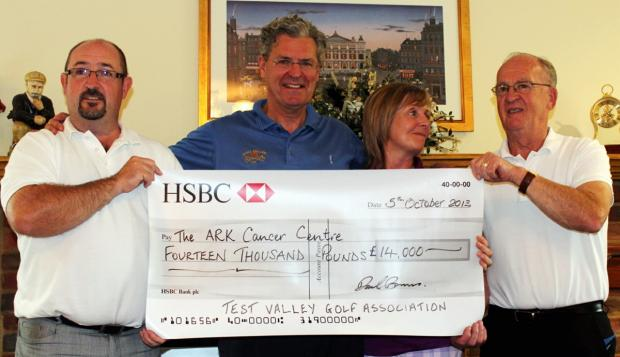Golfers' gift to charity