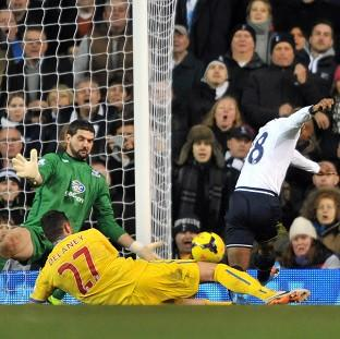 Jermain Defoe, right, was on target at White Hart Lane