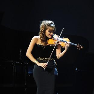 Nicola Benedetti performs at the Classic Brit Awards 2013.