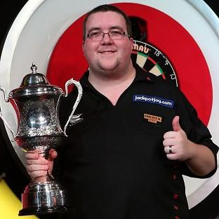 Stephen Bunting won his first world title at the eighth attempt