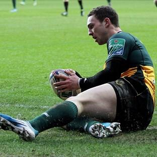 George North ran in the first try fo