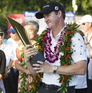 Jimmy Walker, pictured, edged out Chris Kirk by a single shot to win the Sony Open (AP)