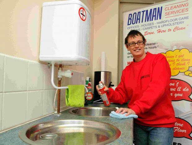 Liz Baker, managing director of Boatman Cleaning Services