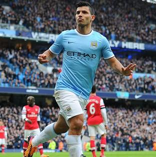 Sergio Aguero has missed eight games through injury