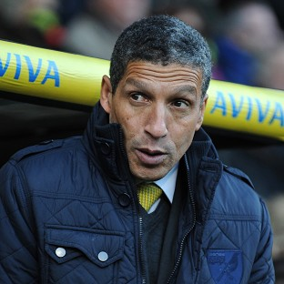 Norwich City's Manager Chris Hughton's job is safe for now