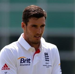 Steven Finn, pictured, has been backed by Middlesex team-mate James Harris to rediscover his form