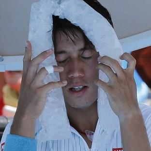 Kei Nishikori of Japan cool