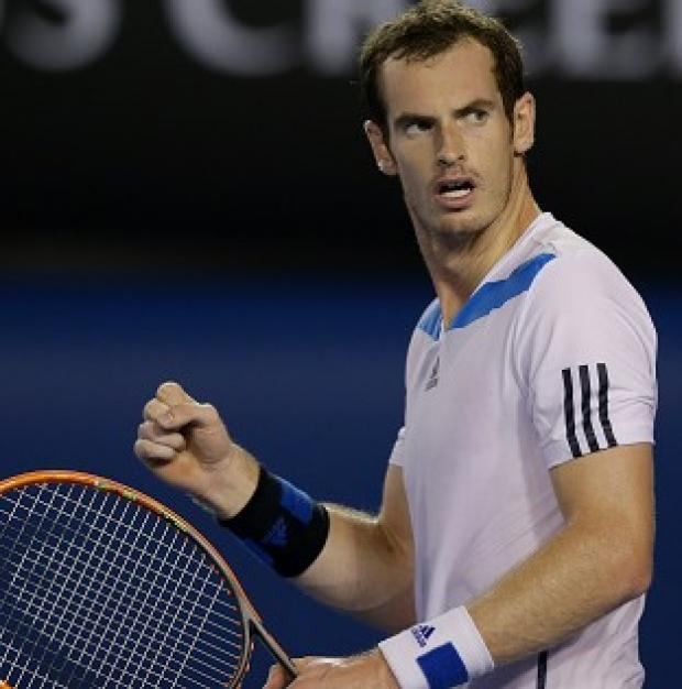 Andover Advertiser: Andy Murray, pictured, overcame Vincent Millot 6-2 6-2 7-5 (AP)