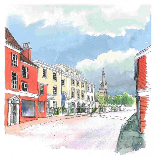 Andover Advertiser: Architect's impression of the £8m development on St Scross Road