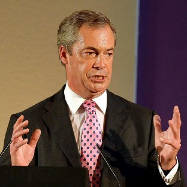 Andover Advertiser: Ukip leader Nigel Farage has received a boost from new opinion poll figures