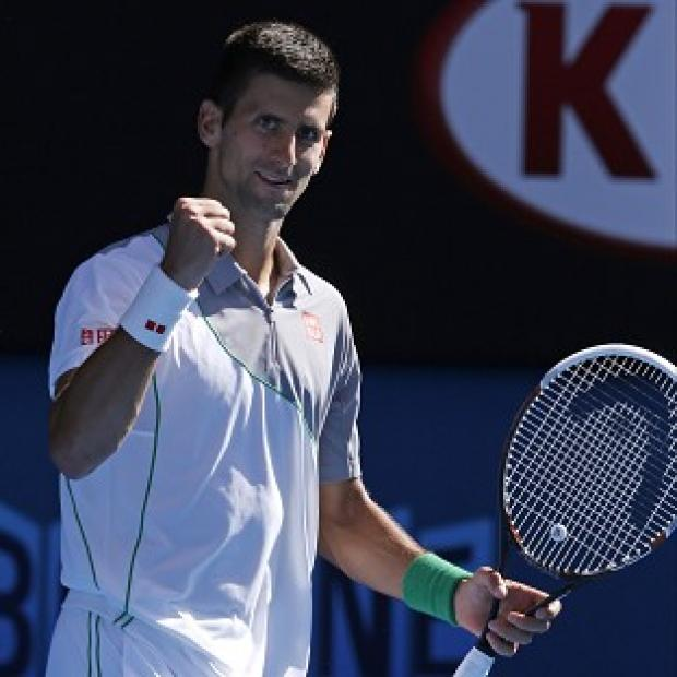 Andover Advertiser: Novak Djokovic, pictured, routed Fabio Fognini to reach the Australian Open quarter-finals (AP)