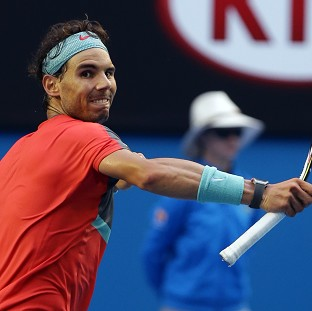 Rafael Nadal, pictured, advanced to the Australian Open quarter-finals by beating Kei Nishikori (AP)