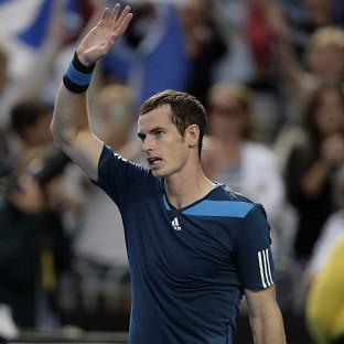 Andy Murray, pictured, overcame a blip to get past Stephane Robert (AP)