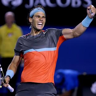 Rafael Nadal will play in his third Australian Open final on Sunday (AP)