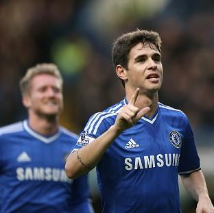 Andover Advertiser: Oscar, right, scored the only goal of the game as Chelsea booked their place in the FA Cup fifth round