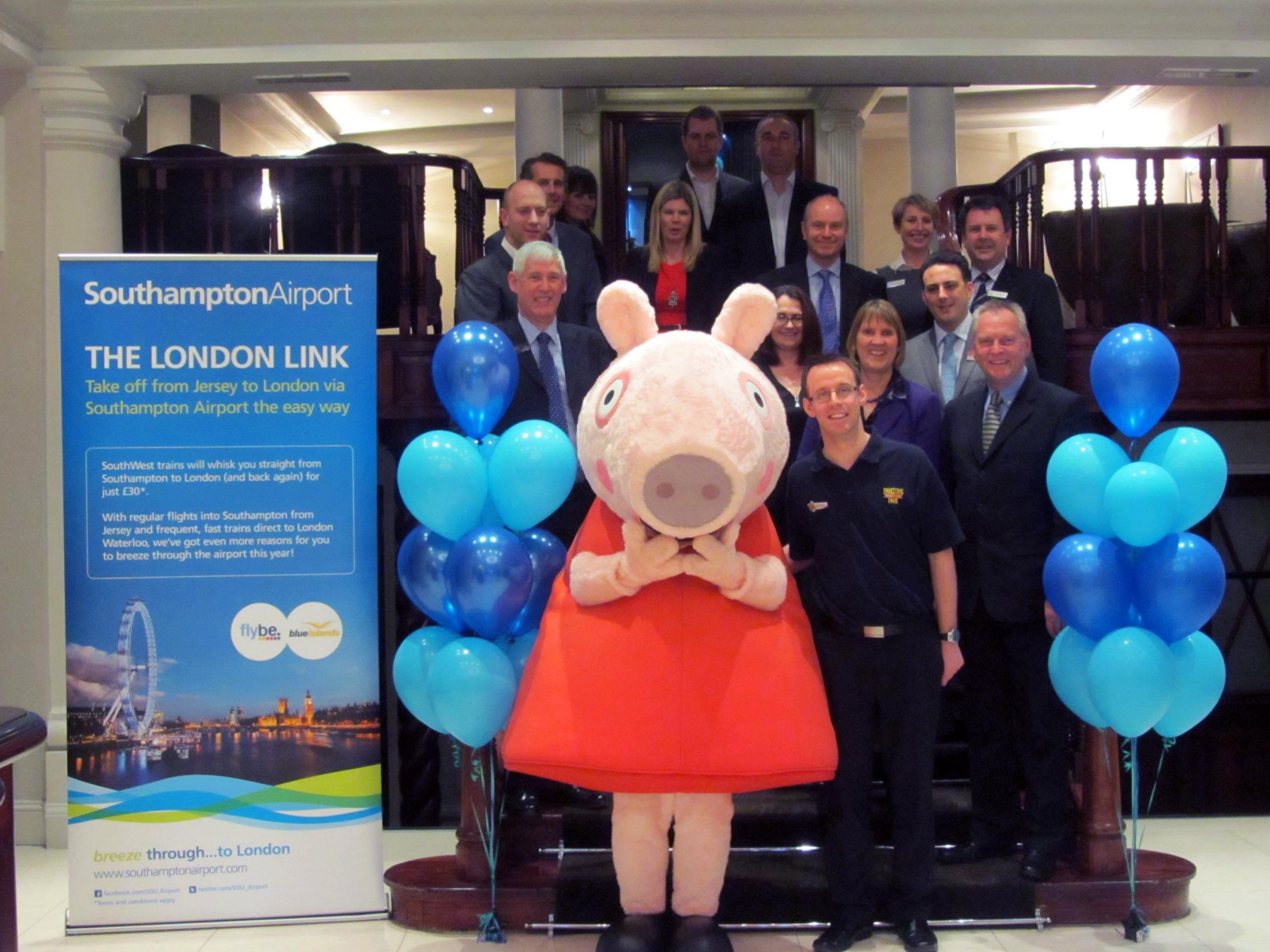 Peppa Pig promotes county delights to Channel Islanders