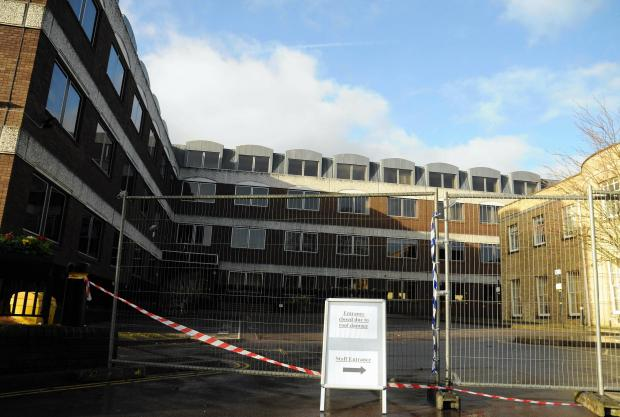 Andover Advertiser: The Civic Offices Deanes building has been cordo