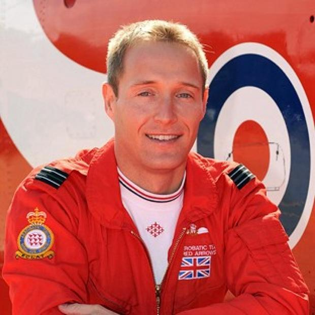 Andover Advertiser: Red Arrows pilot Flight Lieutenant Sean Cunningham died after he was ejected from his cockpit while on the ground