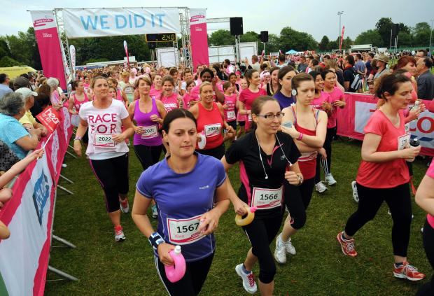 Participants at the start of last year's Race for Life in Basingstoke.