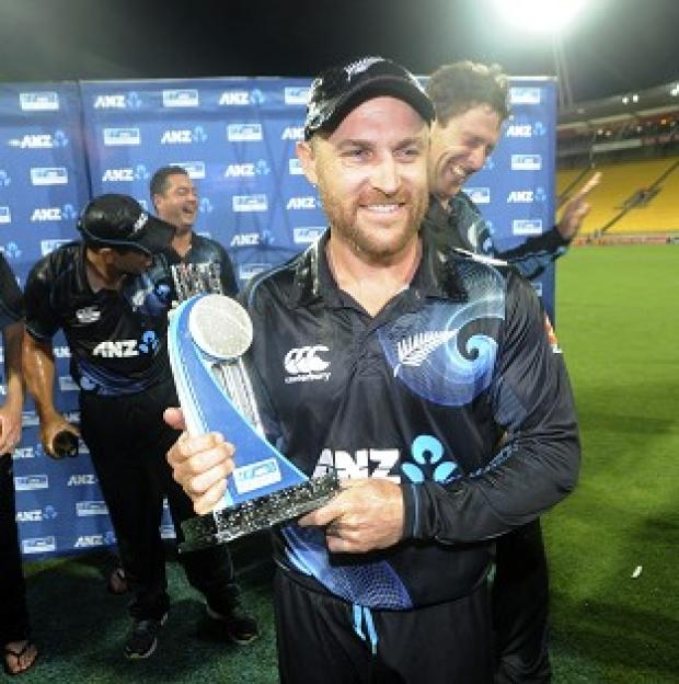 Andover Advertiser: Brendon McCullum's side secured an 87-run win in Wellington (AP)