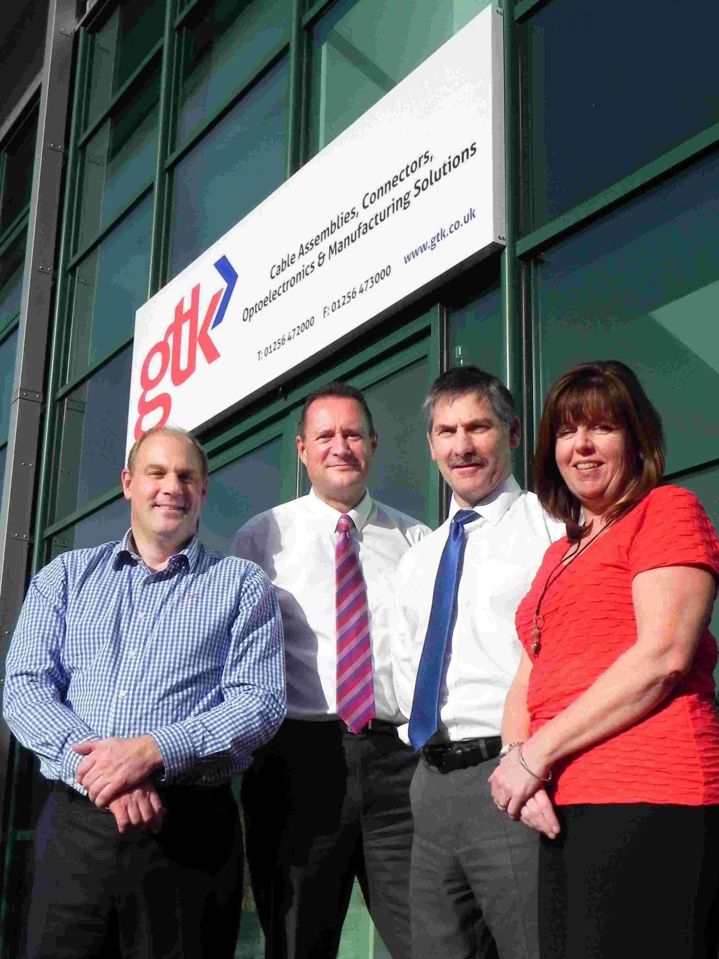 L-R: GTK finance director Fred Edwards, managing director John Morath, operations director Steve Robinson and sales director Julie Arrowsmith