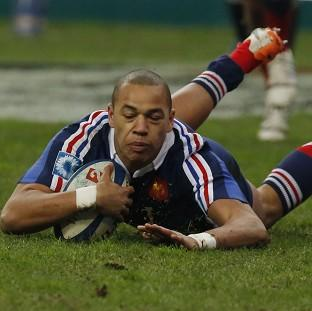 Gael Fickou scores a late try for France in their win over England (AP)