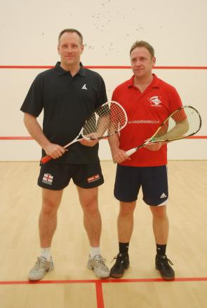 Stuart Summers with IOW coach Adam Dominey