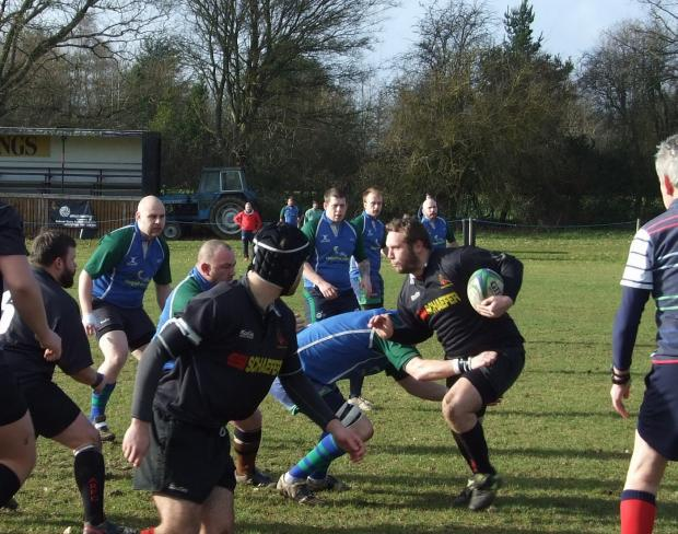 Action from Andover RFC's game with Overton