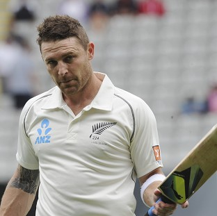 Brendon McCullum was eventually dismissed for 224 as New Zealand made 503 in their first innings