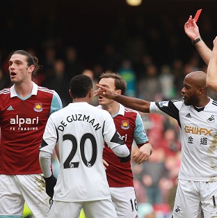 West Ham have desperately tried to overturn Andy Carroll's red card