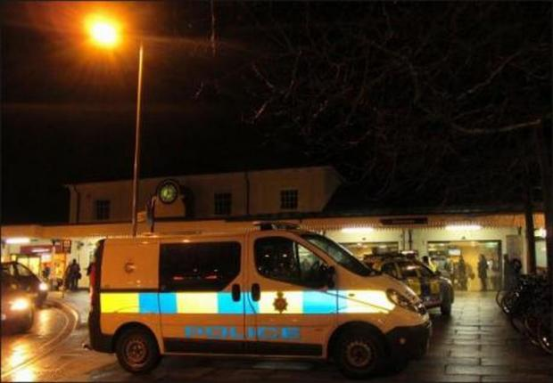 Andover Advertiser: Hampshire police, south central ambulance service and British Transport Police attended the scene