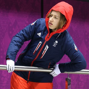 Lizzy Yarnold continues to set the quickest times in skeleton training