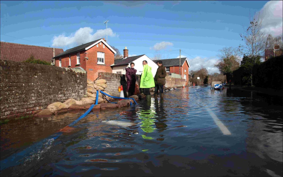 Flooding in Hazeley Road, Twyford yesterday