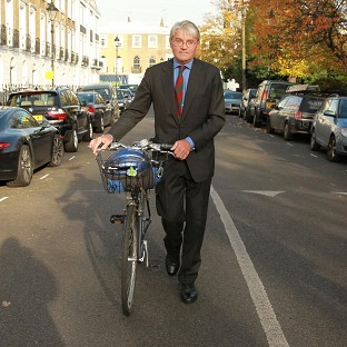 Former Tory chief whip Andrew Mitchell outside his north London home