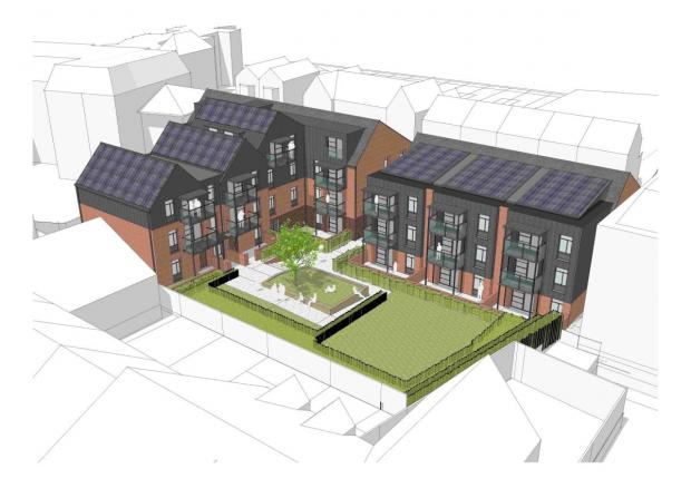 Andover Advertiser: An impression of the new development on the Victoria House site