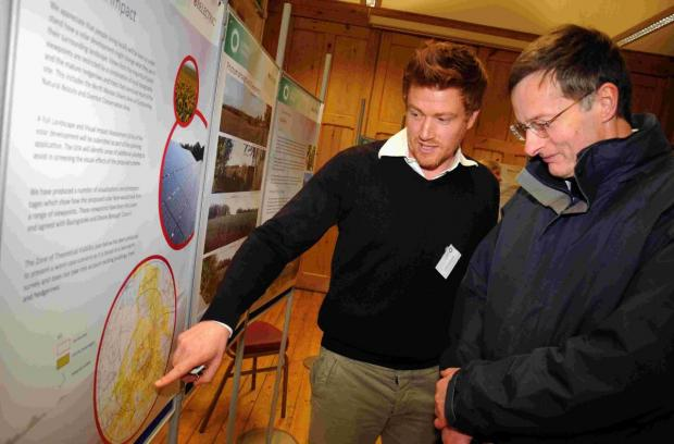 Villagers turn out for solar farm talk