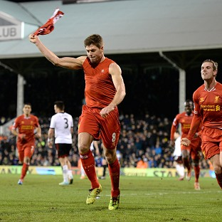 Liverpool's Steven Gerrard likes the