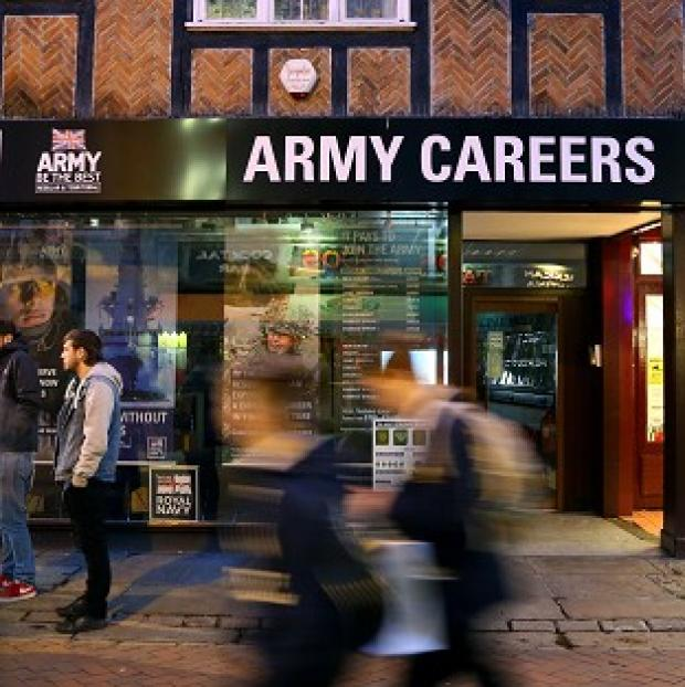 Andover Advertiser: The Army Careers office in Canterbury, Kent, one of the armed forces recruitment offices where suspected explosive devices have been found